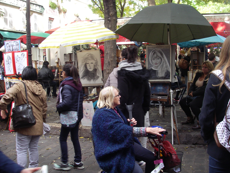 Konstnärer på Place de Tertre