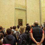 Mona-Lisa innanför sprängsäkert glas
