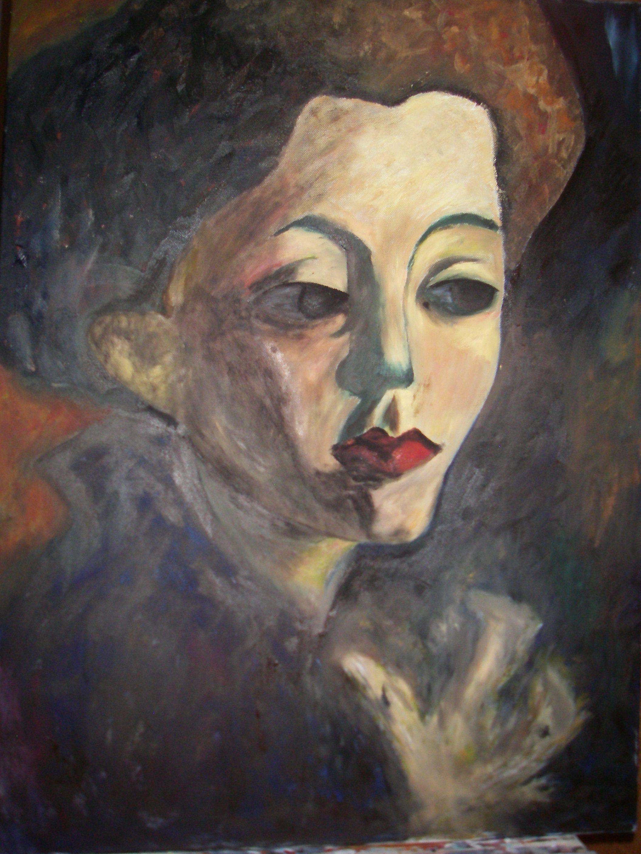 Avmålad bild från en känd konst när som jag glömt namnet på