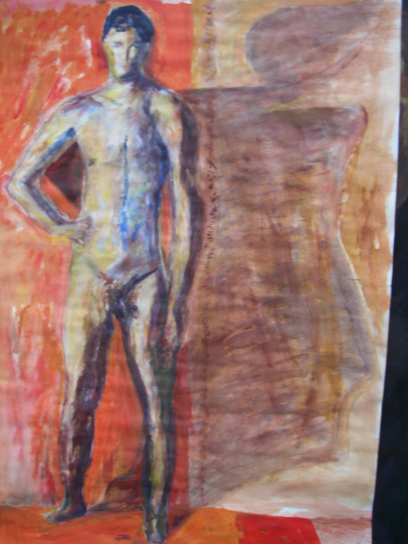 Fritt måleri på Art College