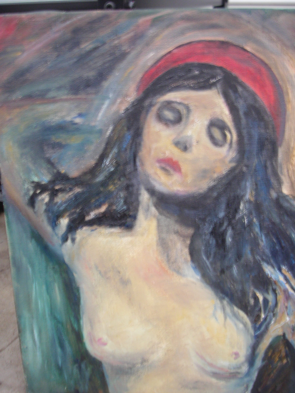 "Avmålad Edward Munck ""Madonna"""