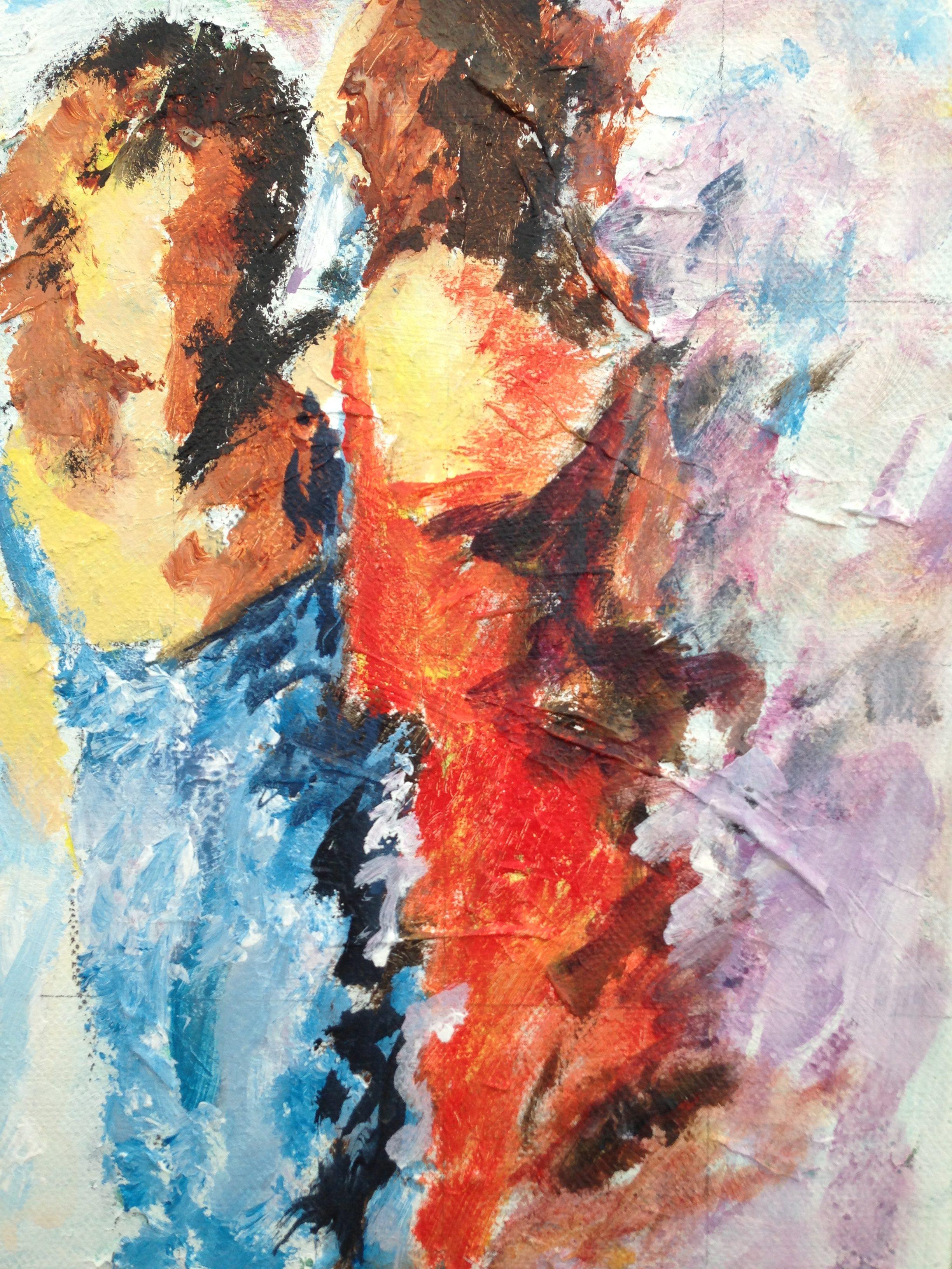 Egen målning inspirerad av Bengt Göran Karlsson