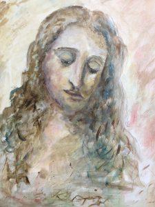 Veckans andra uppgift: en kvinnobild att måla av