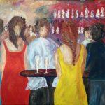 Fläta i gul klänning Akryl 100x80 cm Pris 4.000:-