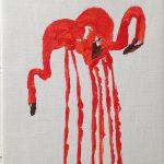 Flamingor Akryl 18x24 cm Pris 350:-