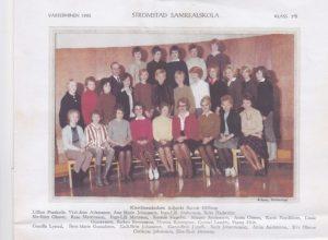 Klass 4b i Strömstads realskola