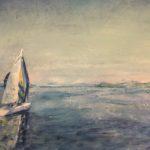 Till havs 46x38 cm olja Pris 1.900:-