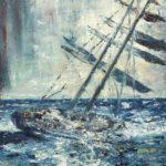 Lilla stormen 36x46 cm olja Såld