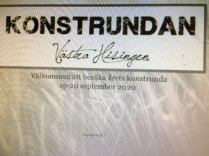Konstrundan Västra Hisingen 19-20 september 2020