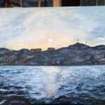 Ursholmen 130x110 cm olja Såld