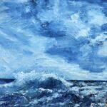 Blå lagunen 50x50 cm olja såld