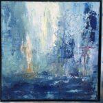 Blue montains olja inramad 44x44 cm Pris 1.900:-