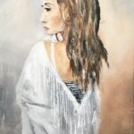 Nyköpta klänningen Olja 45x30 cm Pris 2.500:-