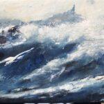 Full storm olja 100x40 cm Pris 4.000:-