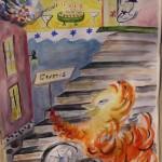 Födelsedagskalaset akvarell 70x90 cm Såldl 70x90 Såld