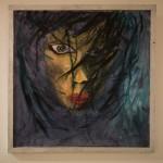 Loreen akryl på papper 65×65 cm Pris: 1.900:-
