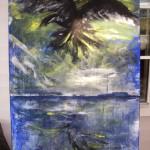 Raven akryl/äggtempera 150x100 Såld