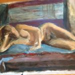 Laila akryl på papper 80x60 cm Pris: 1.500:-