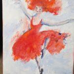 Den rödhåriga ballerinan 28x33 cm olja Pris 1.900:-