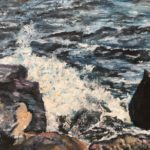 Havsvågen 60x65 cm olja Såld
