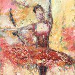 Ballerinan 60x35 cm olja Pris 2.500:-