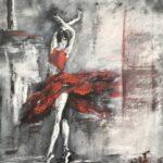 Ballerinan olja/akryl 60x70 cm Pris 2.900:-