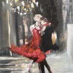 Lets Dance olja 45x65 cm Pris 3.500:-